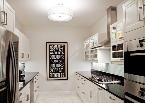 Galley kitchen lighting looks for Best lighting for galley kitchen