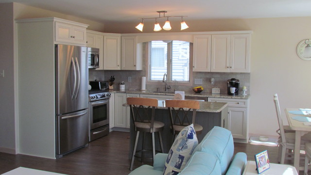 Surf City Raised Ranch Remodel Transitional Kitchen
