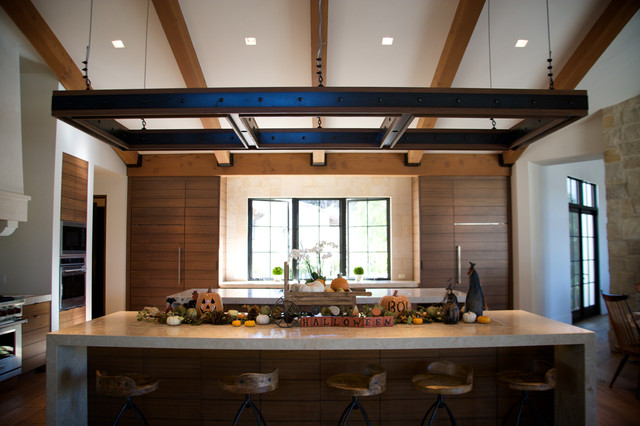 suspended led lighting structure nicholas residence
