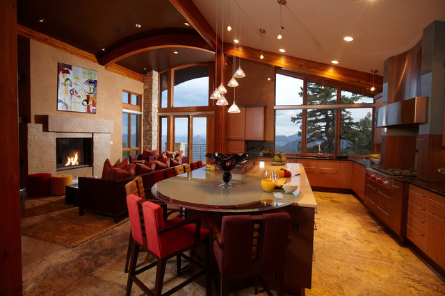 Sustainable Cliffside Living contemporary-kitchen