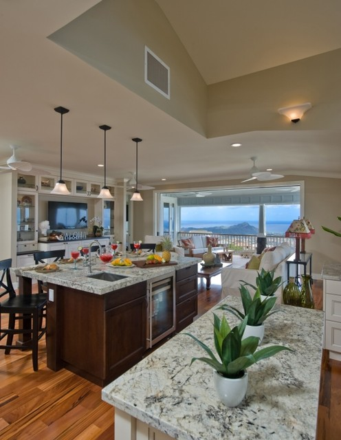 Sustainable stye at wa 39 ahila traditional kitchen for Archipelago hawaii luxury home designs