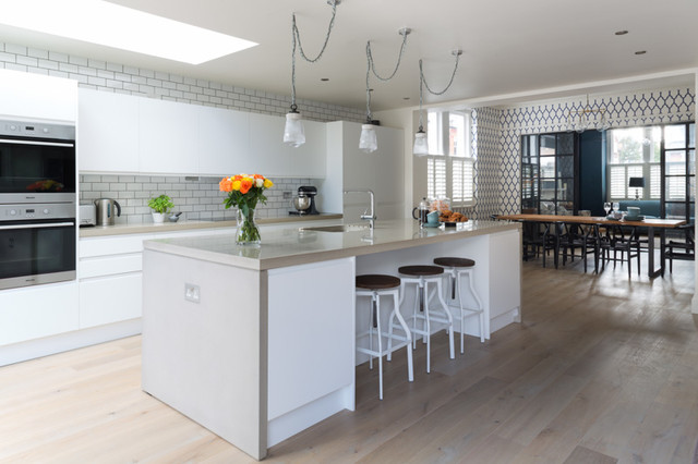Sw4 Home Kitchen Project Contemporary Kitchen London By London Joinery Company Green