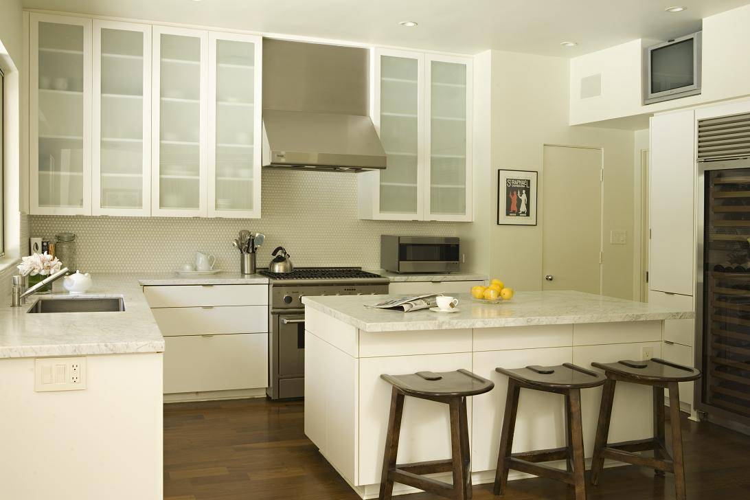 Frosted Glass Kitchen Cabinets Houzz