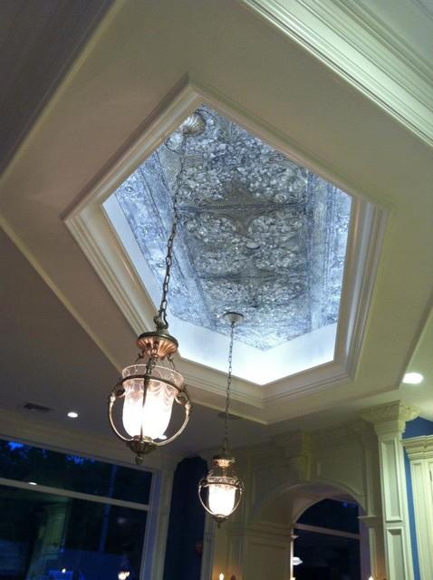 Swarovski Crystal Tin Ceiling traditional-kitchen