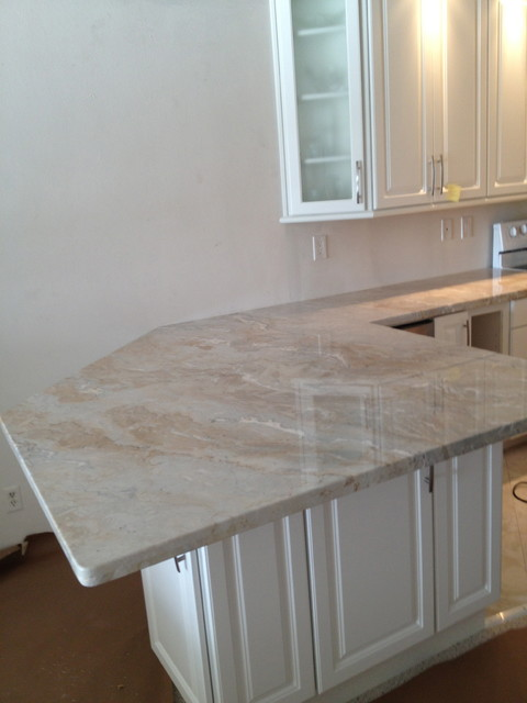 Sweet Dolce Vita Quartzite Transitional Kitchen Other By PJ Marble Design Center