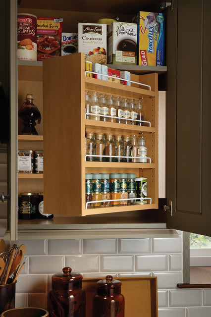 Swing-Out Spice Cabinet traditional-kitchen