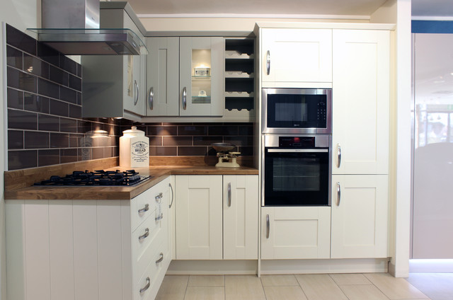 Symphony Rockfort   Ivory/Sage Country Kitchen - Transitional - Kitchen - Essex - by Kent Blaxill