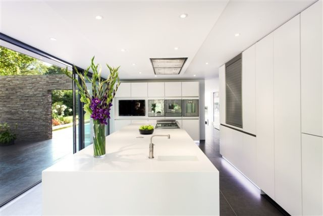 Synergy of light and space modern-kitchen
