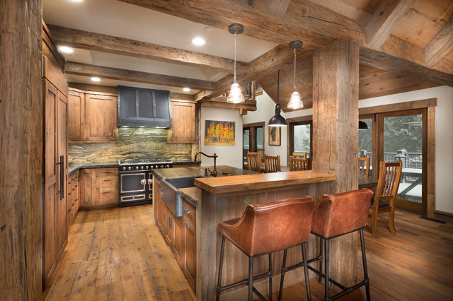 Tahoe Lakeview Rustic Kitchen Sacramento By