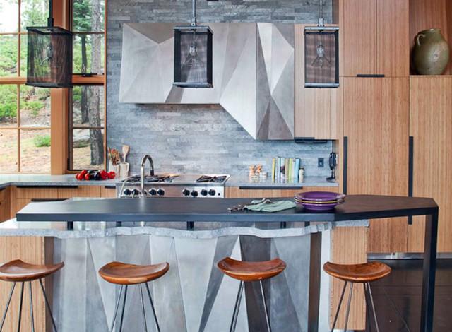 Tahoe Ridge House rustic-kitchen