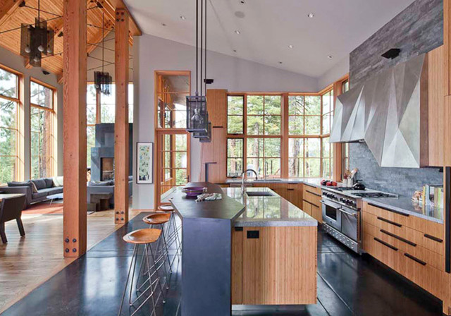 Tahoe Ridge House rustic-kitchen