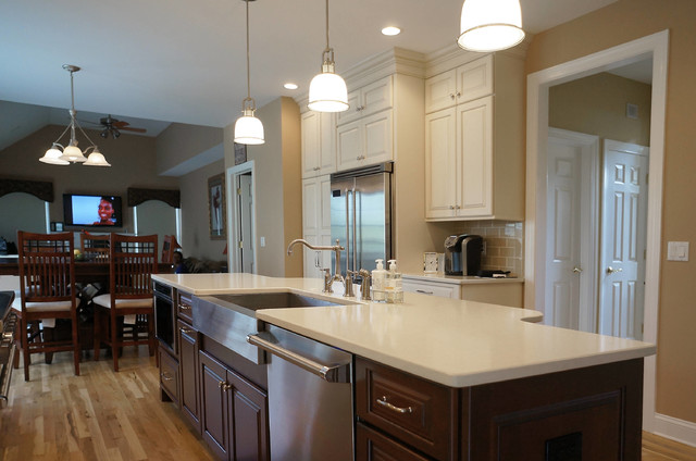 pictures of mosaic backsplash in kitchen taj mahal quartz transitional kitchen by 9128