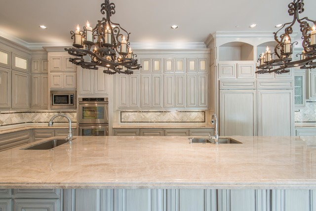Taj Mahal Quartzite Kitchen Dallas Traditional