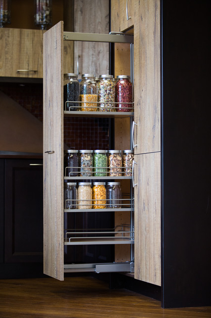 Tall Pantry Pull Out - Modern - Kitchen - Seattle - by ...