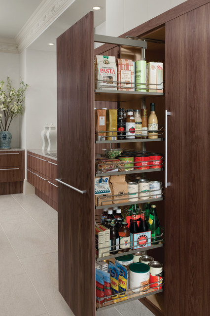 Tall Pull Out Pantry Modern Kitchen Houston By