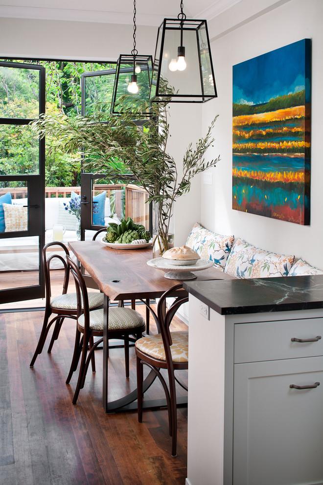 Elegant kitchen photo in San Francisco with soapstone countertops
