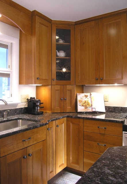 Tambour Unit with Split Doors eclectic kitchen