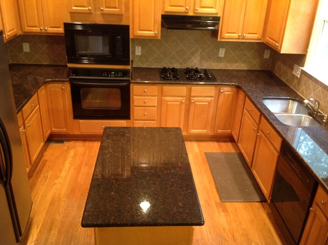Tan Brown Countertops Traditional Kitchen Atlanta