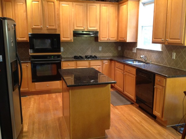 Brown Granite Kitchen Countertops : Tan brown countertops traditional kitchen atlanta