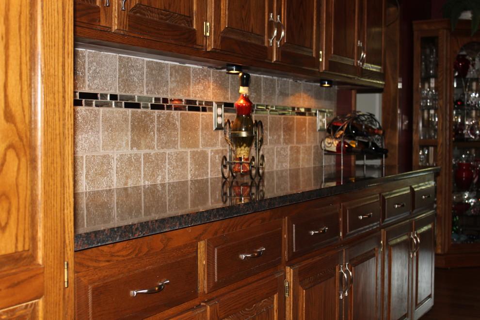 Elegant kitchen photo in Kansas City