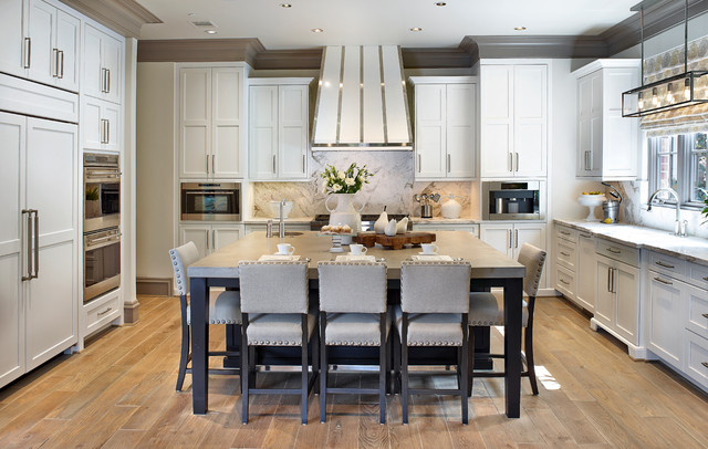 Tanglewood townhome kitchen transitional kitchen for Kitchen island houston