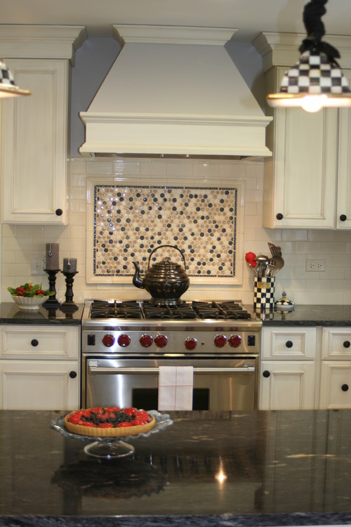 Tapered hood traditional kitchen