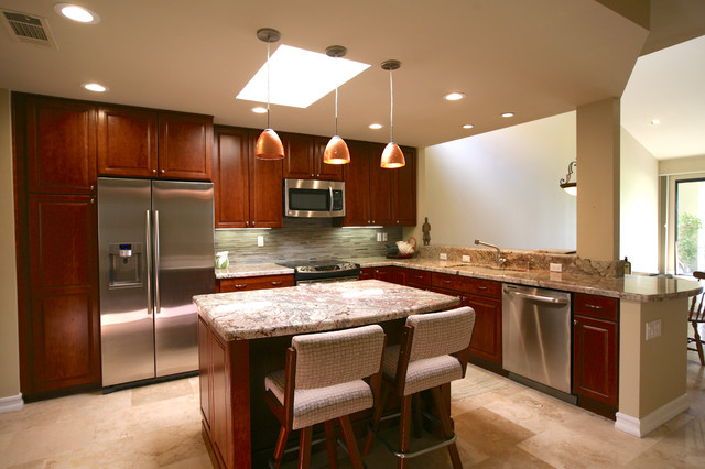 Tasteful Contemporary Palm Desert Full Remodel Traditional Kitchen Other Metro By