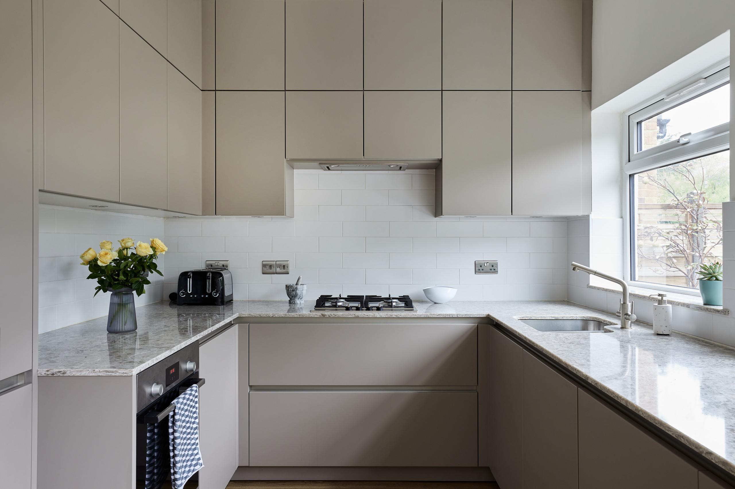 Taupe Handleless Kitchen