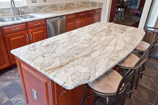 Taupe White Granite in an historic kitchen - Contemporary ...