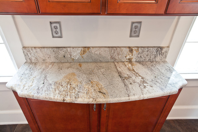 Taupe White Granite In An Historic Kitchen Contemporary