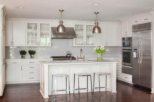Taylors Drive Residence Transitional Kitchen Austin By 48 Mesmerizing Kitchen With Subway Tile Backsplash Concept
