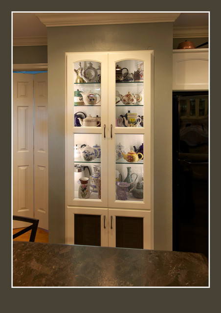 Tea Pot Display Cabinet Traditional Kitchen Other