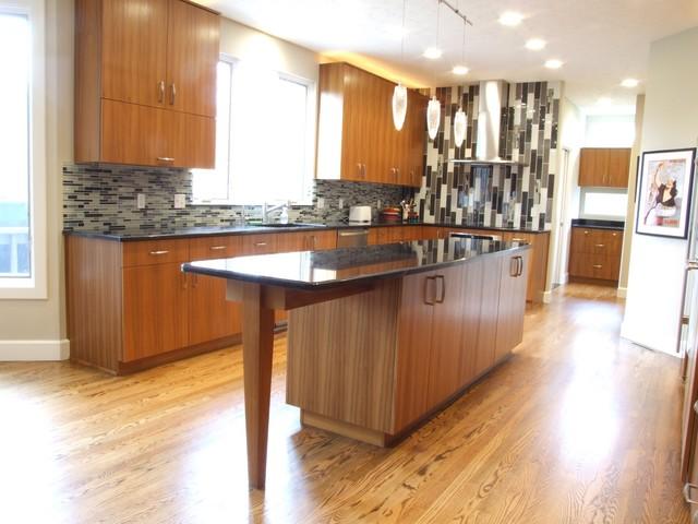 Teak Contemporary kitchen - Contemporary - Kitchen ...