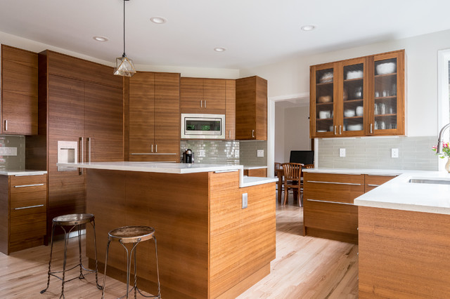 Teak ikea kitchen sammamish modern kitchen seattle for Modern teak kitchen cabinets