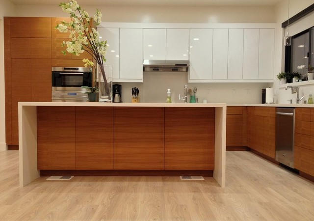 Teak ikea kitchen contemporary kitchen san francisco for Modern teak kitchen cabinets
