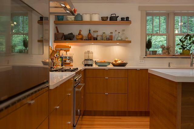 Teak IKEA Kitchen - Contemporary - Kitchen - New York - by Semihandmade