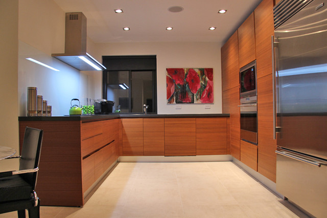 Teak Wood Kitchen Cabinets Modern Kitchen