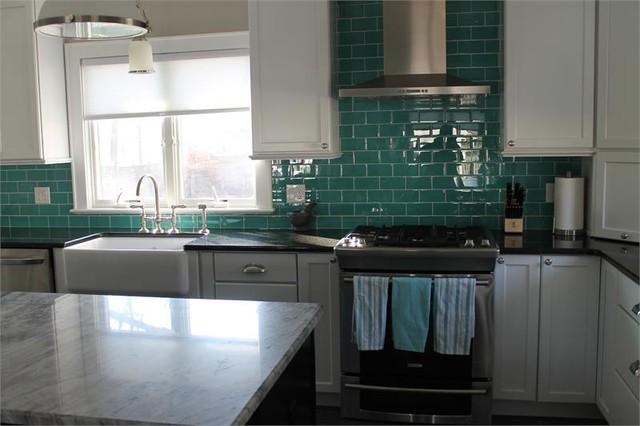 Teal Kitchen Tiles Opendoor