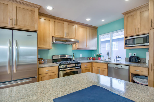 Teal kitchen in duplex traditional-kitchen & Teal kitchen in duplex - Traditional - Kitchen - San Francisco - by ...
