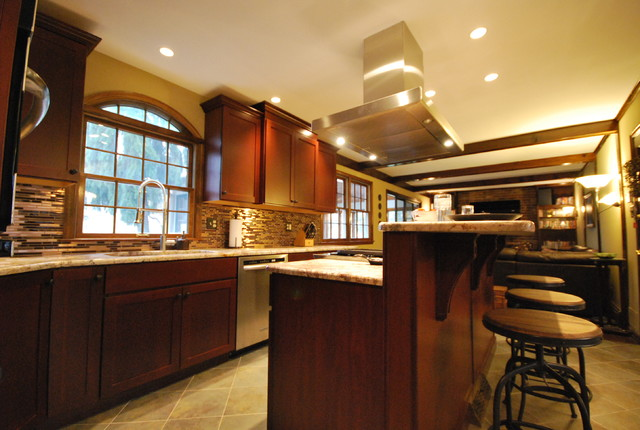 Continental Slate Tear Down Wall Century Mission Style Maple Cabinets ...