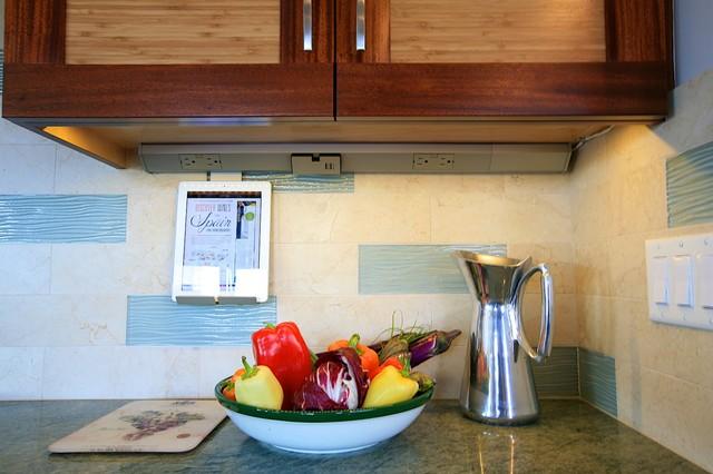 Technology In The Kitchen Santa Cruz Beach House Transitional Kitchen