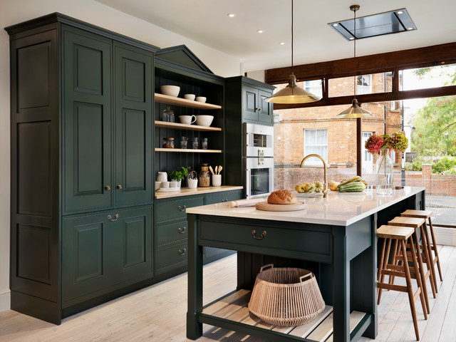 teddy edwards brooklands range traditional kitchen - Green Kitchen Cabinets