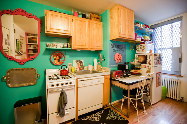 ... studio apartment - Eclectic - Kitchen - new york - by apartmentjeanie