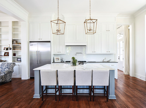 Large Pendants Over Kitchen Island