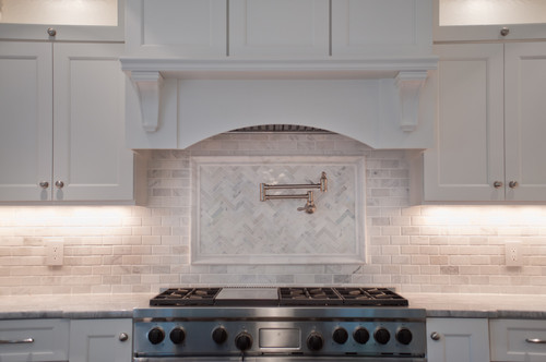 Lovely backsplash is this alaska white granite too if not what is it Marble granite kitchen design clifton nj