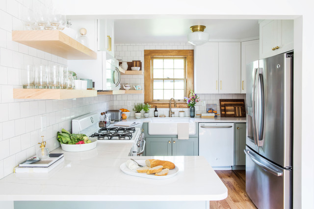 New This Week We Re Loving White Kitchen Cabinets With Brass