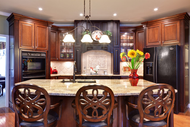 Kitchen Designs With Black Appliances. Traditional Kitchen by Turan Designs  Inc Cabinet Colors for Dark Appliances