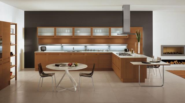 TERRA by Snaidero design - Brandy oak wood contemporary-kitchen