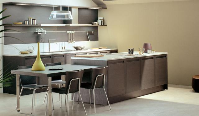 TERRA by Snaidero design - Dark oak wood contemporary kitchen