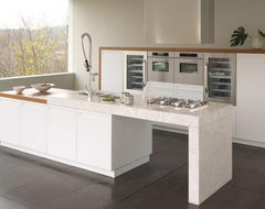 TERRA by Snaidero design - White painted ash and satin teak contemporary-kitchen